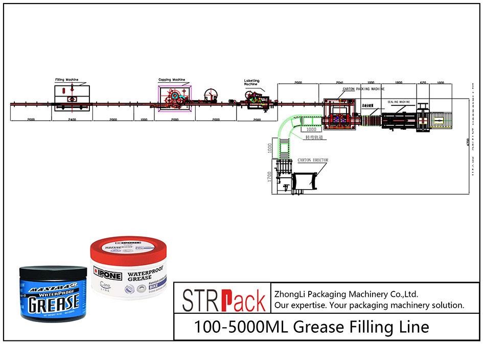 자동 100ML-5L 그리스 충전 라인