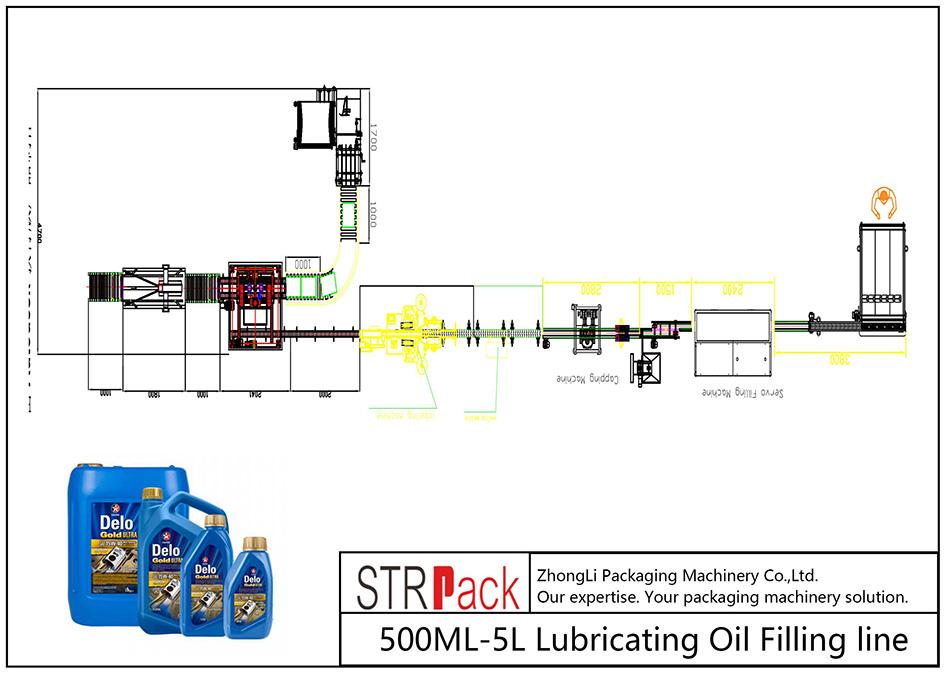 자동 500ML-5L 윤활유 충전 라인
