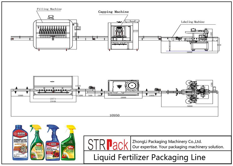 자동 액체 비료 포장 라인