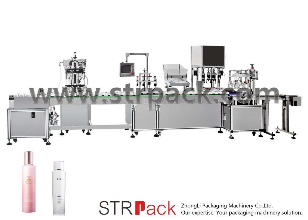 자동 물 유제 충전 및 캡핑 기계