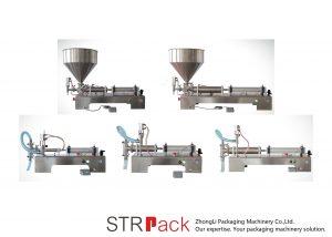 반자동 피스톤 액체 충전 기계
