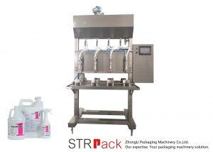 반자동 시간 중력 액체 충전물 기계